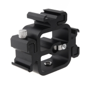 Uniwersalny Metalowe Triple Głowa Hot Shoe Adapter do montażu kamery Flash Speedlite z parasolem Holder