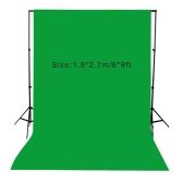 1.8 * 2.7 m/6 * 9 フィート写真画面背景モスリン コットンのビデオ写真照明スタジオ背景グリーン