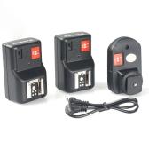 PT-04GY 4 Kanäle Wireless Remote Speedlite-Blitzauslöser Universal- mit 1 Sender & 2 Empfänger für Canon Nikon Pentax Olympus
