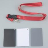Cartes de balance de 3 en 1 poche pour photographie numérique