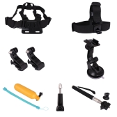 Andoer 7 in 1 Accessories Set Kit Chest / Head Strap Monopod Mount Kit for Gopro Hero 1 2 3 3+ 4