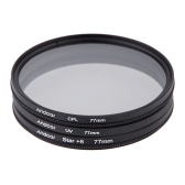 Andoer 77mm Filter Set UV + CPL + Star 8-Point Filter Kit with Case for Canon Nikon Sony DSLR Camera Lens
