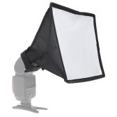 Andoer 20 * 30cm / 7.9 * 11.8in Photographie Diffuseur de Flash Portable Ensemble de Mini Softbox pour DSLR Speedlite Flash
