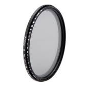 77mm ND Fader Neutral Density Einstellbare ND2 zu ND400 Variable Filter für Canon Nikon DSLR-Kamera