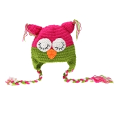 Baby Infant Bird Parrot Bernat Hat Cap with Long Fringe Decoration Crochet Knitting Costume Soft Adorable Clothes Photo Photography Props for Newborns