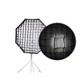 80cm / 31.5in Octagon parapluie Softbox Brolly réflecteur avec Honeycomb grille en fibre de carbone Support pour Speedlite Flash Light