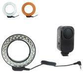 Andoer 48 LED Macro Ring Light con 2 difusores de Flash para Canon/Nikon/Pentax