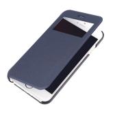 "dodocool Flip PU pelle Ultra Slim caso coprire singola finestra visualizzazione per 4,7"" Apple iPhone 6 blu scuro"