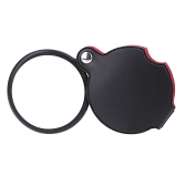 5Xガラスレンズ  ポケット拡大鏡  レザーポーチ折りたたみ拡大  鏡ツール