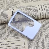ポケット 超薄型カード 読書拡大鏡3X/6Xルーペ   LEDライトルーペツール付