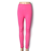 Nova moda cor dos doces mulheres Leggings senhora elástico meias calças Rose