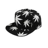 Neue Mode Männer Frauen Baseballcap Blätter Drucken leuchtend Glow Hip-Hop Cap Snapback Hut
