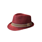 Neue Fashion Kids Boy Girl Unisex: Fedora Hut Kontrast Trim Cool Jazz Hut Trilby Cap Chapeau