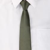 Pescoço gravata gravata simples casamento festa Casual exército verde nova cor sólida clássico masculino