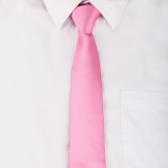 Pescoço gravata gravata simples festa nova cor sólida clássico masculino casamento rosa Casual
