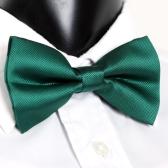 Smoking Bowtie sólido Color corbatas ajustable boda fiesta pajarita corbata pre-atado verde moda hombre