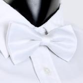 Smoking Bowtie sólido Color corbatas ajustable boda fiesta pajarita corbata pre-atado blanco moda hombre