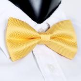 Mode Herren Smoking Bowtie Solid Farbe Krawatten einstellbar Hochzeit Party Fliege Krawatte vor Krawatte gelb