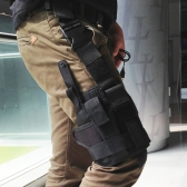 Outdoor Hunting Tactical Puttee Thigh Leg Pistol Holster Pouch Wrap-around