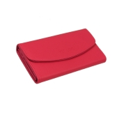 Moda coreana mulheres PU bolsa cor dos doces carteira Clutch Bag rosa