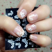 30 Sheet Floral Design 3D Nail Art Stickers Decals Manicure Decoration Beautiful Fashion Accessories White