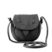 Nowe mody Kobiety Mini Torba na ramię PU Leather Messenger Bag ściągacze Crossbody Torebka Czarny