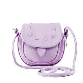 Nowe mody Kobiety Mini Torba na ramię PU Leather Messenger Bag ściągacze Crossbody Torebka Fioletowy
