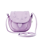 Nueva moda mujeres Mini bolso PU cuero Messenger bandolera lazo bolso púrpura