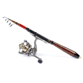 1.2M 3.94FT Telescopic Fishing Rod Travel Spinning Lure Rod Raft Pole Carbon Fiber