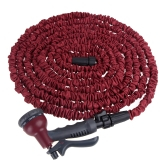 3X Expandable Garden Magic Water Hose Pipe Ultralight Flexible + Faucet Connector + Multifunctional Spray Nozzle 50FT Red