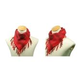 110 * 110 см военных арабского Shemagh тактические пустыни головы шарф бахромой шаль-палантин глушитель головной убор унисекс 100% хлопок красный