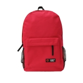 Casual mujeres mochila caramelo Color sólido escuela bolso bandolera roja que viaja