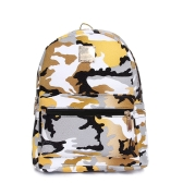 New Fashion Women Backpacks Camouflage Print Special Travel Shoulder Schoolbags Yellow