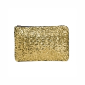 Fashion Women Clutch Bag Dazzling Sequins Glitter Sparkling Handbag Evening Party Bag Golden