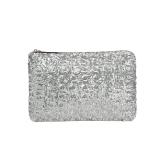 Moda donna pochette abbagliante paillettes Glitter scintillanti borsa sera borsa argento
