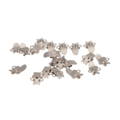 20pcs blanco acero inoxidable Shoe Clips Clip hebillas de bricolaje