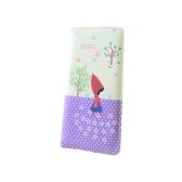 Monedero de cuero de la PU de moda mujeres CAPERUCITO ROJA campana lunares monedero bolso de embrague de Color caramelo