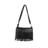 New Fashion Women Mini Shoulder Bag PU Leather Tassel Fringe Satchel Crossbody Messenger Bag