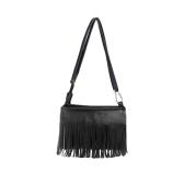 Nuova moda donne borsa a tracolla Mini PU pelle nappa Fringe Satchel Crossbody Messenger Bag