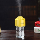 USB Portable ABS Water Bottle Cap humidificateur DC 5V Bureau Air diffuseur Aroma Mist Maker avec bouteille + 2pcs filtre absorbant colle fonction veilleuse