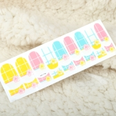 One Sheet Mix Style 3D Glitter Nail Art Stickers Patch Wraps Fingers Toes Tips Decoration
