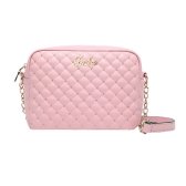 New Fashion Women Shoulder Bag PU Leather Candy Color Quilted Pattern Rivet Crossbody Chain Bag