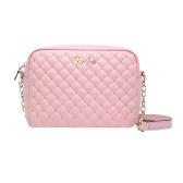 Новая мода женщин сумка PU кожа конфеты цвет стеганый узор заклепки цепи Crossbody мешок