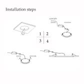 3W kwadratowy LED sufitowy panel podtynkowy lekka lampa dolna cienka jasna dla pokoju dziennego łazienka Bedroom Kitchen AC85-265V