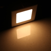 4W LED cuadrado empotrado techo luz del Panel abajo lámpara Ultra brillante delgada para Living comedor baño dormitorio cocina AC85-265V