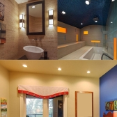 6W квадратные светодиодные встраиваемые потолочные свет панели вниз лампа ультра тонкий яркий для гостиная комната спальня кухня AC85-265V