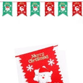 2m Colorful Christmas Hanging Flag Party Decoration Snowman Ornaments