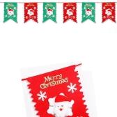 2m Kolorowe Boże Narodzenie Wiszące Dekoracje Party Flag Dekoracje Snowman