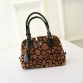 Moda donna di lusso Tote eco-pelliccia spalla Messenger Bag Mini borsetta grigio/Borgogna/marrone/turchese