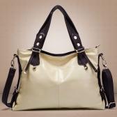 Nuova moda donna borsa PU cuoio classico spalla borsa a tracolla Tote